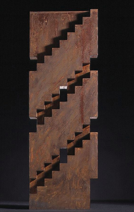 A sculpture of stairs by Juhani Pallasmaa