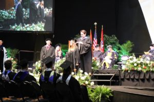 Hooding at Spring Commencement 2018