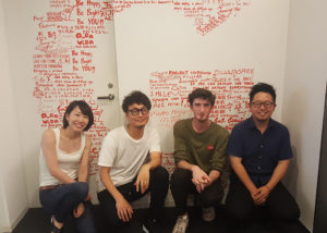 Keogh in Tokyo with other interns
