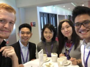 Students at Undergraduate Awards with other international students